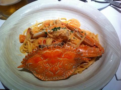 蟹のトマトクリームソース リングイネ